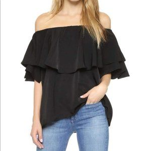 MLM Ruffle Off Shoulder Sleeveless Top Blouse